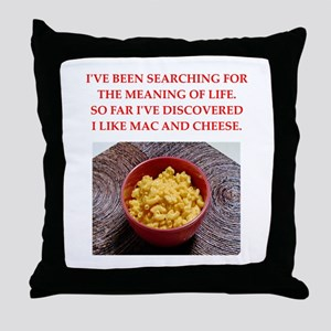 macaroni and cheese Throw Pillow