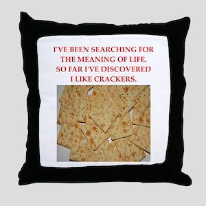 crackers Throw Pillow