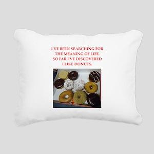 donuts Rectangular Canvas Pillow