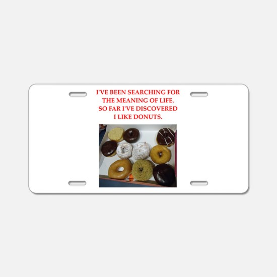 donuts Aluminum License Plate