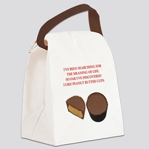 peanut butter cup Canvas Lunch Bag