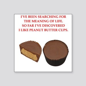 "peanut butter cup Square Sticker 3"" x 3"""