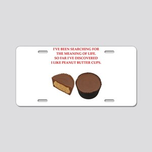 peanut butter cup Aluminum License Plate