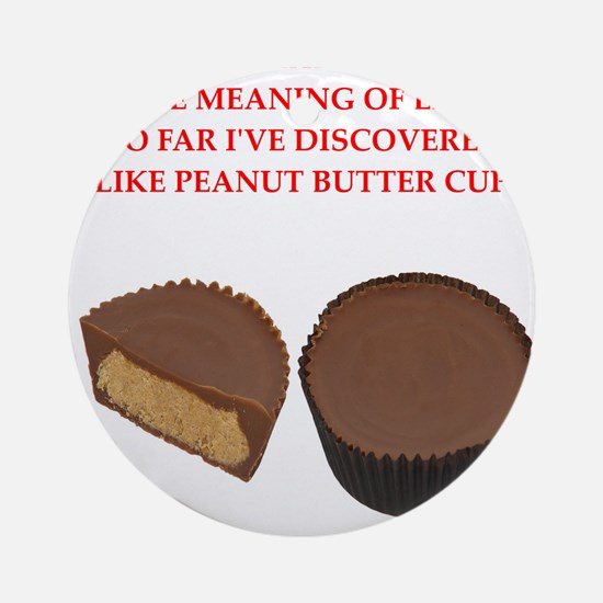 peanut butter cup Ornament (Round)