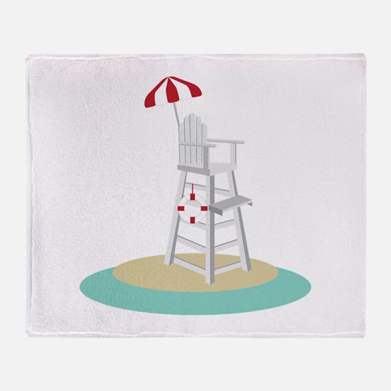 Lifeguard Stand Throw Blanket