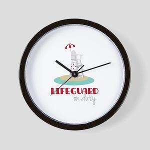 Lifeguard on Duty Wall Clock