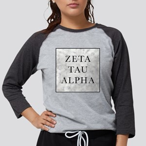 Zeta Tau Alpha Marble Square Womens Baseball Tee