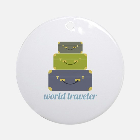 World Traveler Ornament (Round)