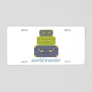 World Traveler Aluminum License Plate