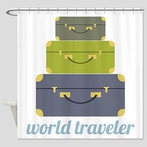 World Traveler Shower Curtain