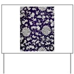 Abstract Whimsical Flowers Yard Sign