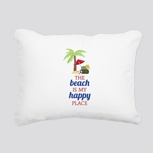My Happy Place Rectangular Canvas Pillow