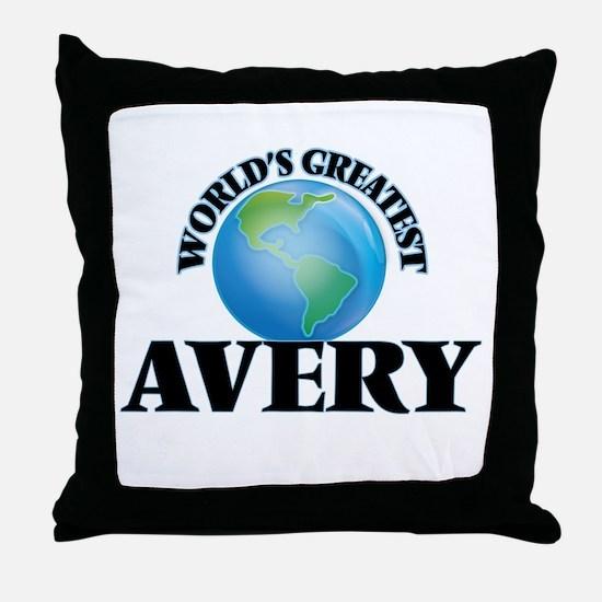 World's Greatest Avery Throw Pillow