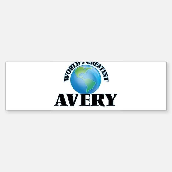 World's Greatest Avery Bumper Bumper Bumper Sticker