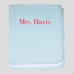 Mrs Davis-bod red baby blanket