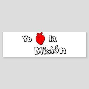 Yo Corazon la Mision Bumper Sticker