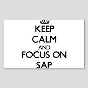 Keep Calm and focus on Sap Sticker