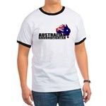Australian Ground fighter - flag ringer t-shirt