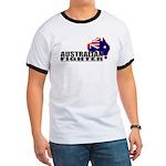 Australian Fighter - Ozzie flag BJJ tee shirt