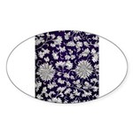 Abstract Whimsical Flowers Sticker