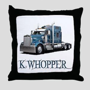 K Whopper Throw Pillow