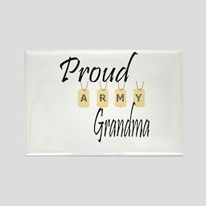 Camo Army Grandma Rectangle Magnet