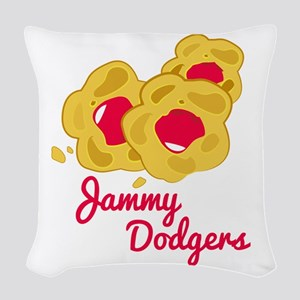 Jammy Dodgers Woven Throw Pillow