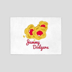 Jammy Dodgers 5'x7'Area Rug