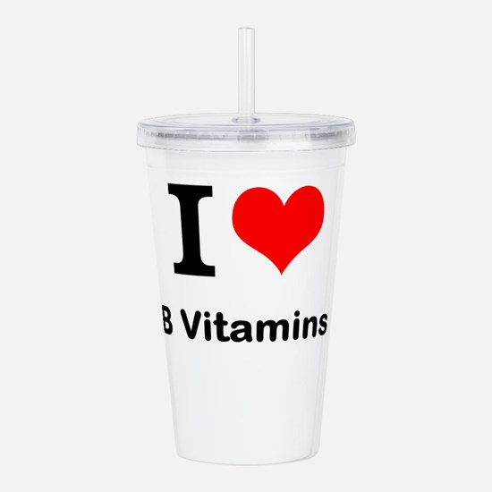 I Love B Vitamins Acrylic Double-wall Tumbler