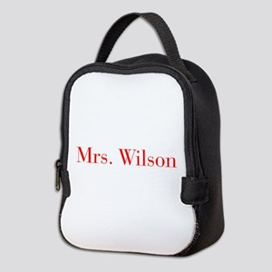 Mrs Wilson-bod red Neoprene Lunch Bag