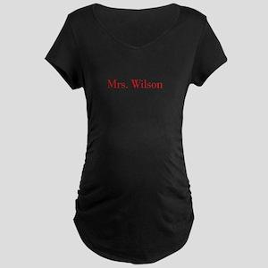 Mrs Wilson-bod red Maternity T-Shirt