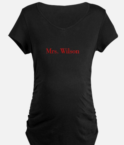 Mrs Wilson-bod red Maternity T-Shirt