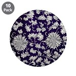 """Abstract Whimsical Flowers 3.5"""" Button (10 pack)"""