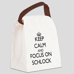Keep Calm and focus on Schlock Canvas Lunch Bag