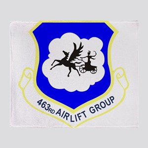 463rd Airlift Group Throw Blanket