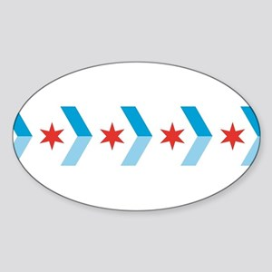 Chicago Flag Chevron Arrows Sticker
