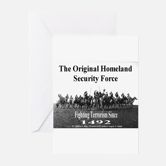 Unique Homeland security Greeting Cards (Pk of 10)