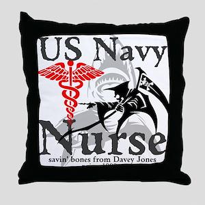 Navy Nurse Corps Throw Pillow