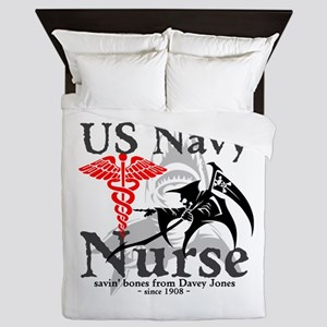 Navy Nurse Corps Queen Duvet