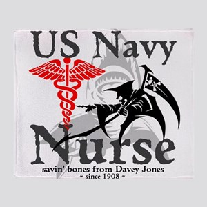 Navy Nurse Corps Throw Blanket