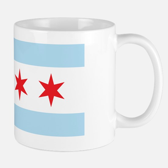 Chicago Flag White Background Mug