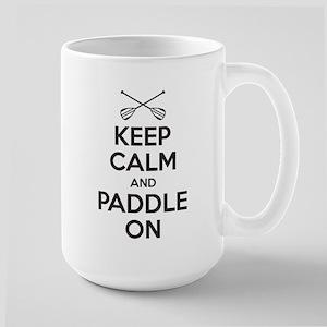 Keep Calm Paddle On Travel Mugs