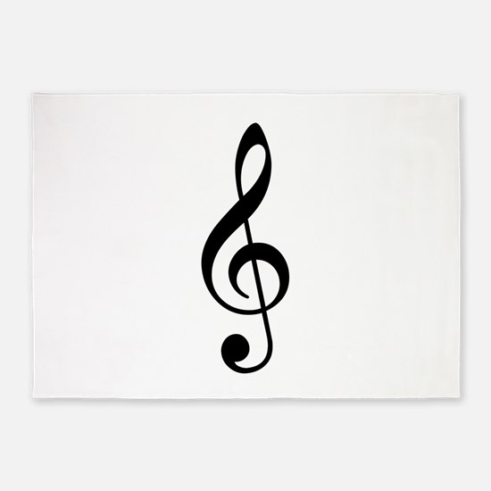 Treble Clef 5'x7'Area Rug