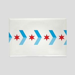 Arrow Chicago Flag Magnets