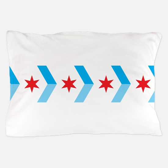 Arrow Chicago Flag Pillow Case