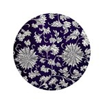 Abstract Whimsical Flowers Button