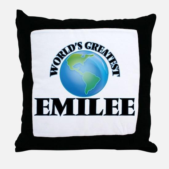 World's Greatest Emilee Throw Pillow