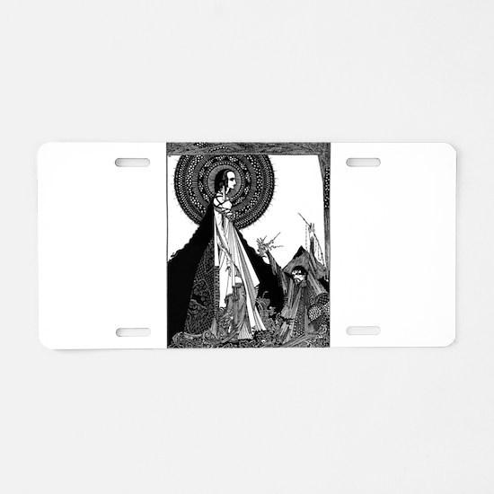 Edgar Allan Poe Illustration Aluminum License Plat