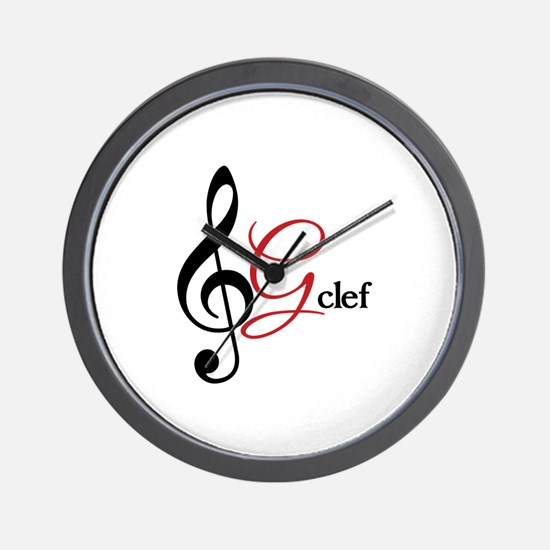 G-Clef Wall Clock