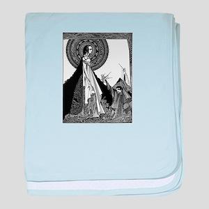 Edgar Allan Poe Illustration baby blanket